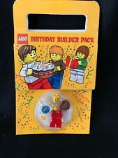 LEGO NEW BIRTHDAY BOY COLLECTIBLE MINIFIGURE W/CAKE  BUILDER PACK