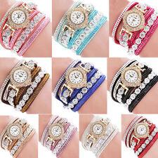 Fashion Women's Stainless Steel Bling Rhinestone crystal Bracelet Wrist Watch HS