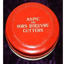 Vintage, Metal, Aspic & Hors Doeuvre Cutters by Tala, Made in England