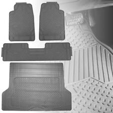 All Weather Gray Floor Mats with Gray Cargo Mat Combo Set For Auto