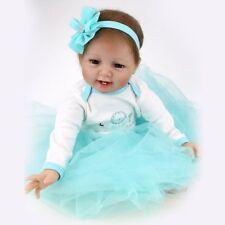 "22"" Handmade Newborn Reborn Dolls Lifelike Vinyl Silicone Baby Girl Doll+Clothes"
