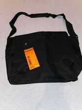 Compass 23 Litre Capacity Black Laptop Messenger Bag SD34 Flapover