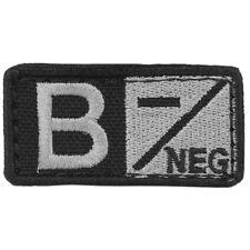 CONDOR  Blood type Patch B -  black  negro GRUPO SANGUINEO