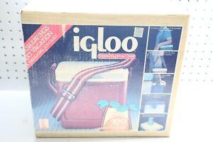Vintage NOS NIB Original Igloo Tag Along 8 Ice Chest Cooler - Blue W/ Grey Lid
