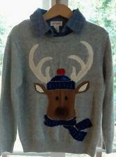 Cat & Jack Boys Reindeer Christmas Collar sweater Size 5T Cute