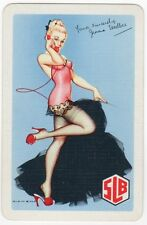 Playing Cards 1 Swap Card Old SLB SOUTH LONDON BREWERY Beer PIN UP Jenna Esselbe