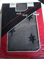 Vintage Star Print Medias Una Talla Negro Década de 1980 Emilio Cavallini