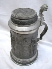 Vintage Pewter Tankard Lidded Mug Stein Skeet Trap Hunting Christmas Angel Mark