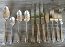 Vintage Silver plated flatware Lovelace 1847 Rogers Bros 11 Pieces