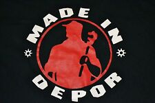 Made In Depor Automotive Hardware Parody Logo T Shirt Large Troy MI Detroit Nice