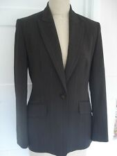 WOMEN'S - SIZE 10 - NEXT - BROWN SMART SUIT OFFICE JACKET/ TAILORED - LONG LINE