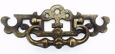 "BRASS MCM ORNATE FRENCH COUNTRY Vintage Drawer Pull Antique Hardware 3""centers"