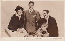 Carte photo The Four Marx brothers postcard Paramount pictures