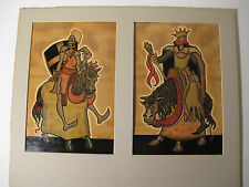 1940's 2 Orig Signed Paintings 38 Yr Disney Animator Art 'Arthur & Mordred' #14
