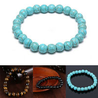 ALS_ Natural Stone Beads Bracelets Fashion Jewelry Men Women Evening Party Prom