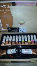 Cassetta colori olio 20/60 ml VAN DYCK FERRARIO pennelli/carboncini/tavolozza