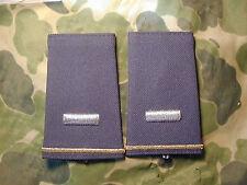 Pair of Army 1st LT slip on rank for Dress Uniform Desert Storm Era New GREEN