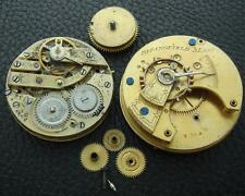 Lot Two Old Estate Pocket Watch Movements For Parts
