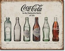 Coca Cola Coke Bottles from 1899-1957 Metal Sign Tin New Vintage Style USA #1839