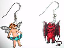 Angel Devil Earrings Good and Evil Charms