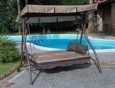 Dondolo 3 posti trasformabile a letto modello zanzibar ecru arredo giardino