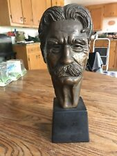 Vintage LEO CHERNE Albert Schweitzer Sculpture Bust Statue 50s