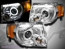 08-12 Ford Escape XLT XLS Limited  Halo LED Projector Headlights Chrome New