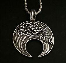 Raven Viking Lunula Pendant Amulet Crescent Moon Norse Slavic Fertility Pagan