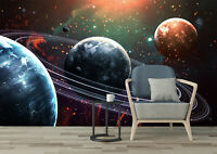 3D Universe Planets Self-adhesive Living Room Wall Murals Wallpaper Home Decor