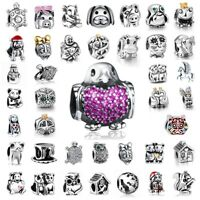 European Animals Bead Charms Fit Sterling 925 Silver Bracelets Bangle Necklace