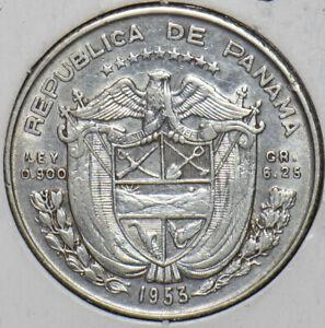 Panama 1953 1/4 Balboa 296423 combine shipping