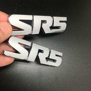 2pcs SR5 badge Decal Emblems Chrome Nameplate for Tacoma Tundra 4RUNNER SEQUOIA