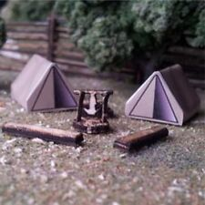Osborn Models N Gauge --Camping Scene (2)-- With Tents,Fire Pit NEW Kit #RRA3113
