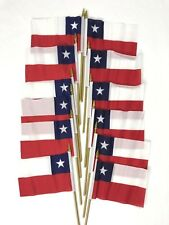 12 Chile Small 4 X 6 Inch Country Stick Flags Banner with 10 Inch Plastic Pol