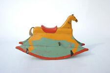 Altes, originales Schaukelpferd aus Holz 1930 rocking horse