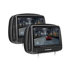 HDMI Schwarz 2x 9 Zoll TFT LCD Auto Kissen Kopfstütze Monitor DVD Player Spiel