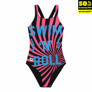 ARENA One Piece Swimsuit Size 6-7Y Chlorine Resistant UV Protection Racer Back