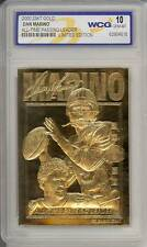 DAN MARINO 2000 23KT Gold Card NFL All-Time Passing Leader Graded GEM MINT 10