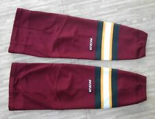 Quad City Mallards CCM Pro Stock Burgundy Hockey Socks ~ Large L ~ Vegas Knights