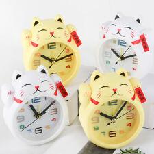 Creative Alarm Clocks Lucky Cat Model Bedroom Ornaments