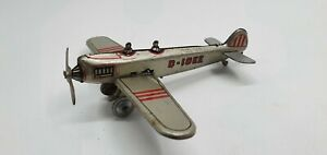 Prewar?  Tin Toy PENNYTOY  Airplane D-10EE