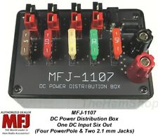 MFJ-1107 Anderson PowerPole Fused Distribution Block - One Input, Six Outputs