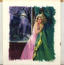 Originalzeichnung Titelbild Romanheft OLIVIA  Handzeichnung 1978 Bastei Angst