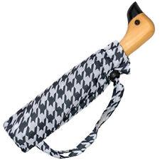 Susino Duck Black & White Folding Umbrella - Houndstooth