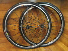 MAVIC KSYRIUM SL SSC 700C CLINCHER CAMPAGNOLO 9 10 11 SPEED WHEEL SET - BLACK