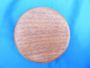 Round Solid hard Wood display base top size 120mm with feet