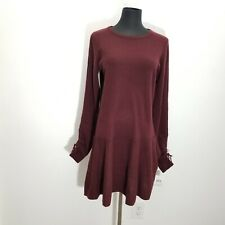 Autumn 100% Cashmere Women Sweater Dress Size S Knit Long Sleeve Tunic Rose $396