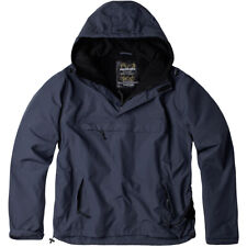 Surplus Windbreaker Jacket Mens Hood Hiking Outdoor Fleece Lining Anorak Navy