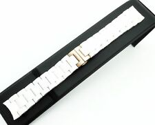 23mm White Rubber/Steel Strap/Band/Bracelet for Emporio Armani Watch AR5919