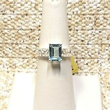 SKY BLUE TOPAZ  STERLING SILVER SOLITAIRE RING - SIZE 6 - TGW 1.95 CTS